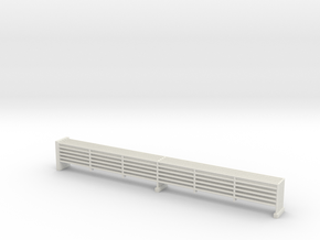 MOF Outside Upper 6 Bar Rails 72:1 Scale in White Natural Versatile Plastic
