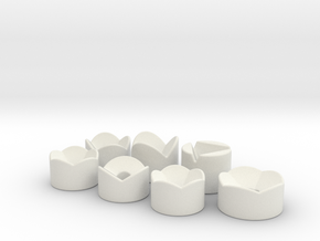 Dicestand RPG in White Natural Versatile Plastic: Polyhedral Set