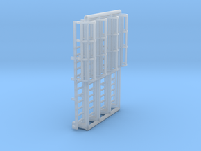N Scale Cage Ladder 24mm (Top) in Smooth Fine Detail Plastic