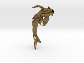 Koi Fish Pendant 4cm in Natural Bronze