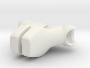 Human Foot Set for ModiBot in White Natural Versatile Plastic