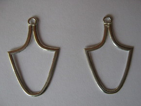 Hypa Earrings in Polished Silver