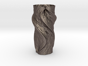 Vase 83514 in Polished Bronzed Silver Steel