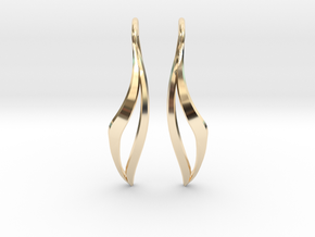 sWINGS Sharp Earrings in 14K Yellow Gold
