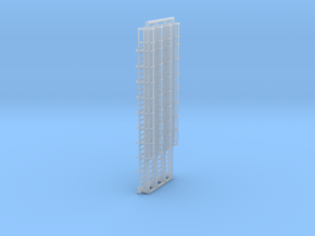 N Scale Cage Ladder 58mm (Top) in Smooth Fine Detail Plastic