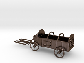 HO Scale Hay Wagon  in Polished Bronze Steel