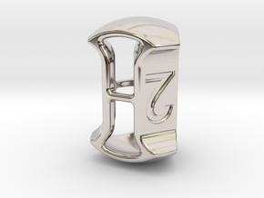 "D3, 3/4"" (19mm), Open, Balanced in Rhodium Plated Brass"