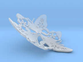 Butterfly Bowl 1 - d=13cm in Smooth Fine Detail Plastic