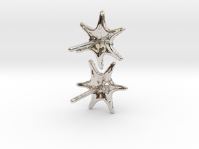 Sea Star Earrings in Platinum