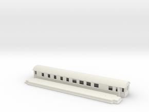 RCo1 - Swedish passenger wagon in White Natural Versatile Plastic