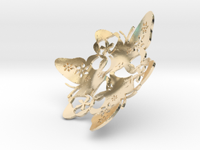 Butterfly Bowl 1 - d=10cm in 14K Yellow Gold