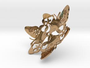 Butterfly Bowl 1 - d=10cm in Polished Brass