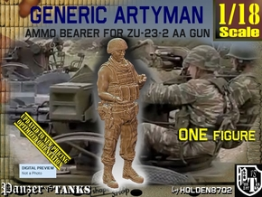 1/18 Ammo Bearer for ZU-23-2 AA Gun in White Natural Versatile Plastic