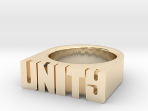 21.8mm Replica Rick James 'Unity' Ring in 14k Gold Plated Brass