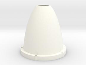 Vortex Water Imploder Shower Head - Part 2 of 2 in White Processed Versatile Plastic