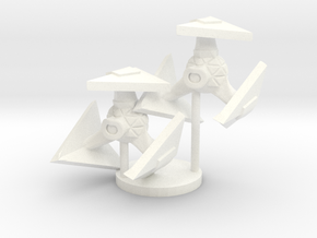 Robotic Fighter in White Processed Versatile Plastic