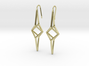 YOUNIVERSAL Y2 Earrings. Pure Elegance. in 18k Gold Plated Brass