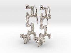 GOLDEN DRAGON Earrings in Platinum