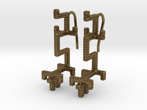 GOLDEN DRAGON Earrings in Natural Bronze