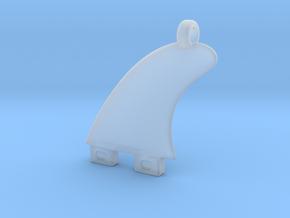 Surfboard fin jewel in Smooth Fine Detail Plastic