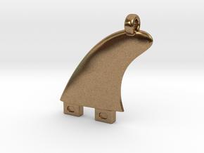 Surfboard fin jewel in Natural Brass