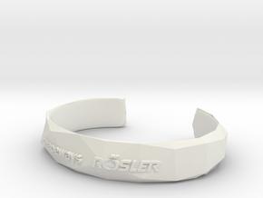 Bracelet Basic small in White Natural Versatile Plastic