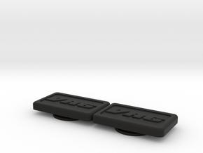 Badge for VW Golf 2 VR6 Turbo in Black Natural Versatile Plastic