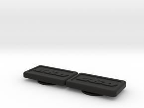 Badge for VW Golf 2 G60 Turbo in Black Natural Versatile Plastic