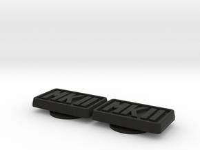 Badge for VW Golf 2 MKII MK2 in Black Natural Versatile Plastic