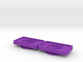 Badge for VW Golf 2 Shocker Hand in Purple Processed Versatile Plastic