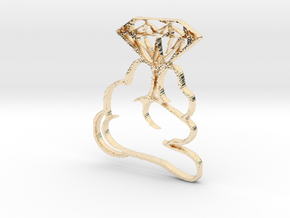 Diamond In Hand Pendant in 14K Yellow Gold