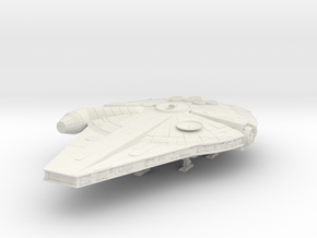 Millennium Falcon Han Solo's movie in White Natural Versatile Plastic