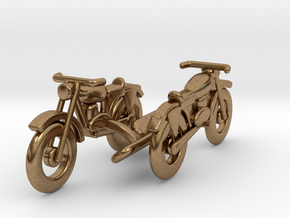 Motorcycle Cufflinks L-size in Natural Brass
