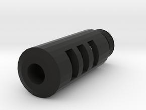 Combat Action Airsoft Flash Compensator (14mm Self in Black Premium Versatile Plastic