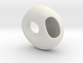 Wearable Flower Pendant in White Strong & Flexible