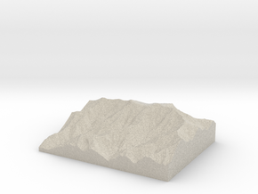 Model of Cliff Top in Natural Sandstone