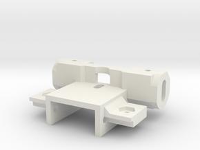 Schwingarmhalter 3mm Achse Carrera Universal 132 in White Natural Versatile Plastic