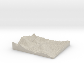 Model of Upper Valley Christian School in Natural Sandstone