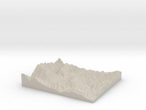 Model of Upper Valley Christian School in Natural Sandstone