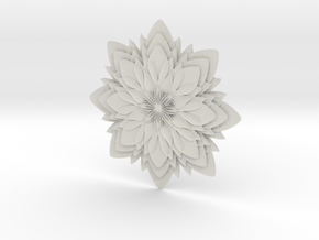 Dahlia-W in White Natural Versatile Plastic