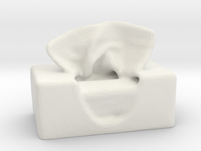 Tissue Box in White Strong & Flexible