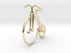 Vintage Bicycle Jewel in 14k Gold Plated Brass