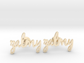 "Name Cufflinks - ""Zalmy"" in 14K Yellow Gold"