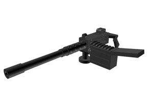 Heavy machine gun 28mm x4 in Smoothest Fine Detail Plastic