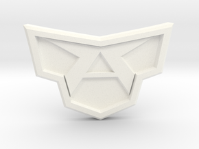 All Might Buckle in White Processed Versatile Plastic