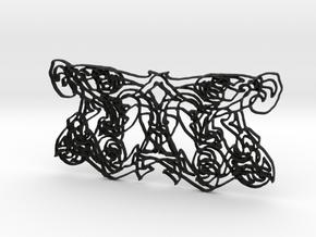 Ornamental Tribal Trim in Black Natural Versatile Plastic