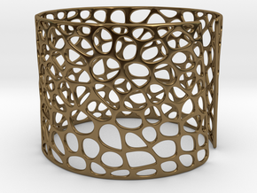 Voronoi Bracelet (Sizes S M L) #unique in Polished Bronze: Medium