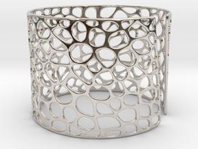 Voronoi Bracelet (Sizes S M L) #unique in Rhodium Plated Brass: Medium