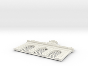 HOGG-Hall01 - Large modular train station in White Natural Versatile Plastic