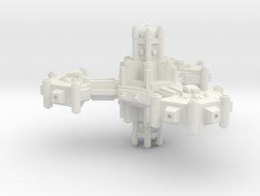 Plataforma defensa planetaria A in White Natural Versatile Plastic
